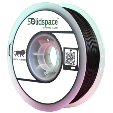 PLA BLACK 1KG SPOOL 1.75MM DIA